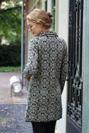 Stijlvol lang gebreid dames vest alpaca wol exclusief en stijlvol
