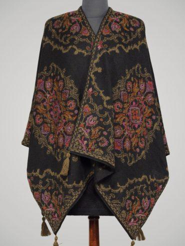 alpaca-omslagdoek-zwart-brons-bloemen-Belle-Esprit