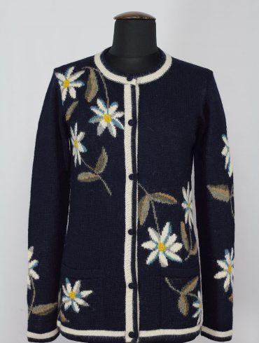 alpaca-vest-dames-klassiek-blauw-wit-bloemen-Edelweis