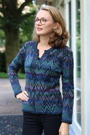 dames-vest-blauw-groen-paars-zwart-jacquard-gebreid-alpaca-wol-duurzaam-warm-vest