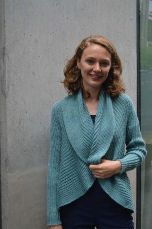 dames-vest-mint-groen-rond-gebreid-shawl-kraag-alpaca-wol-natuurlijke-duurzame-mode