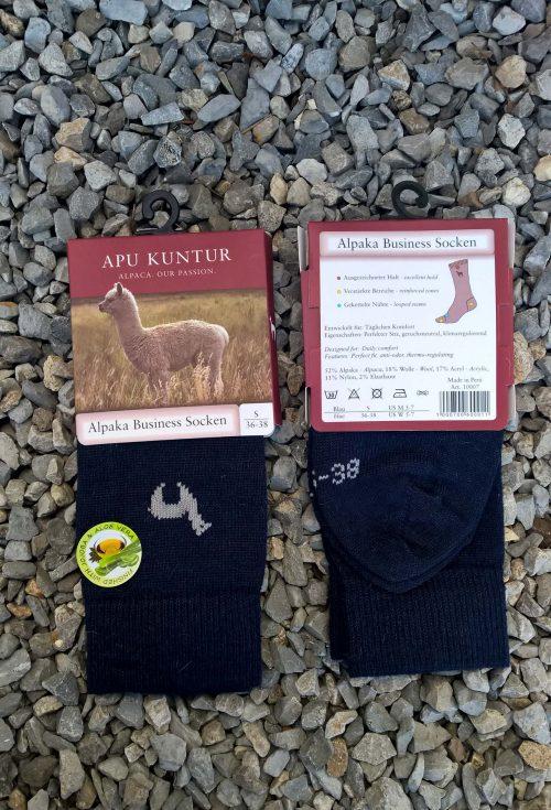 Alpaca-wol-sokken-donker-blauw-peru-warm
