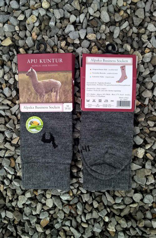 Gebreide-alpaca-wol-sokken-grijs-heren-zaken-sokken-business