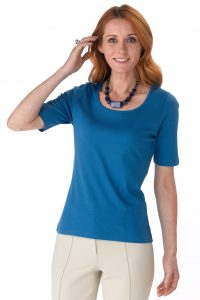 Artisan Route pima shirt blauw dames