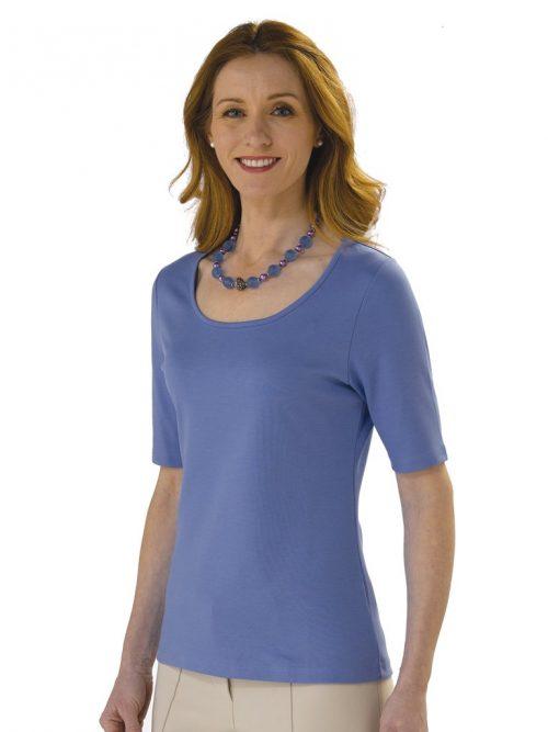 Pima katoen shirt lavendel blauw ARTISAN ROUTE