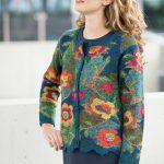 Alpaca-wol-vest-peruvian-jacket-gebloemd-blauw-groen