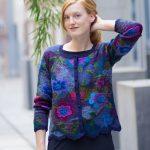 Handgemaakt alpaca wollen vest met bloemen peruvian knitwear