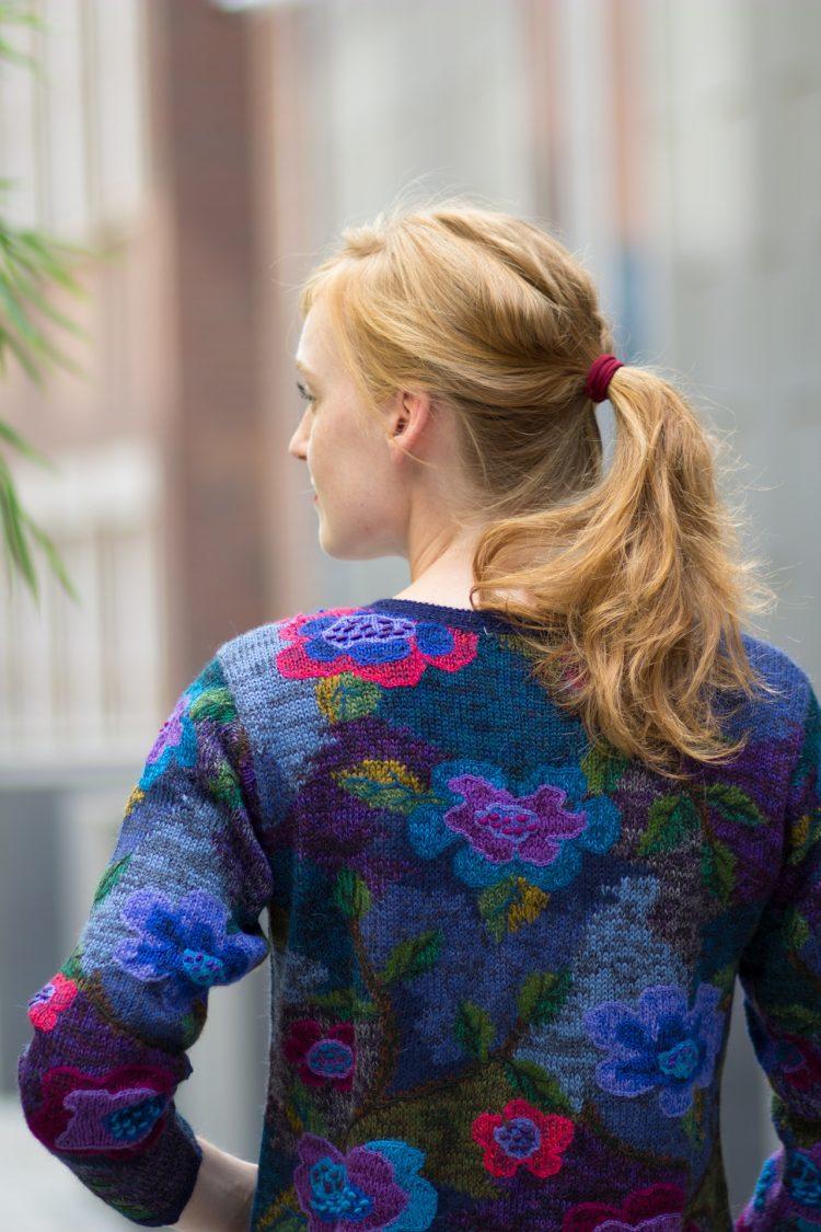 Peruvian knitwear gebloemd vest alpaca wol