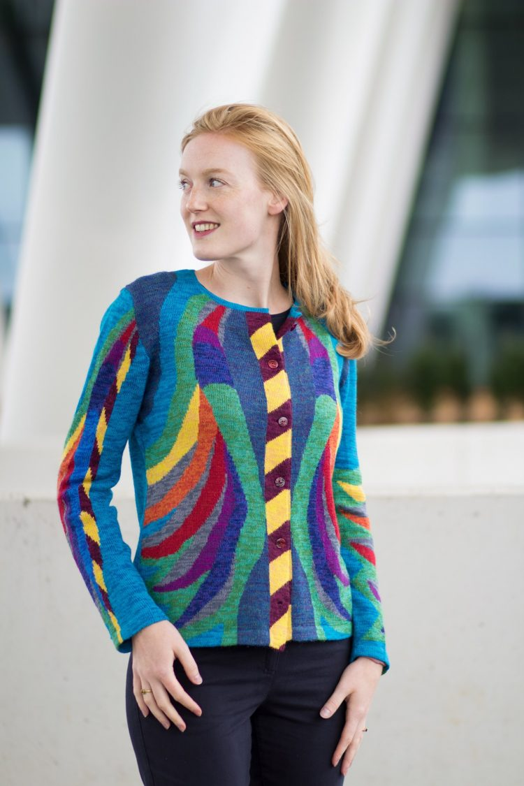 Asarti dames vest jasje artistiek kleurrijk
