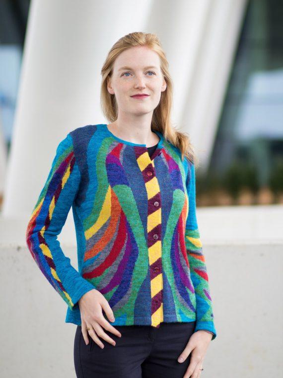 kleurrijk en artistiek dames vest jasje van Asarti