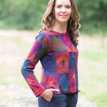 MILMA dames vest alpaca wol met mozaïek patroon