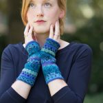 Alpaca wollen polswarmers Manuela Bedford turquoise blauw
