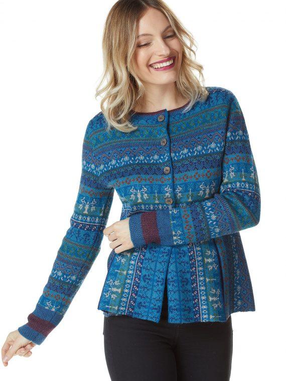 Turquoise-blauw-dames-vest-gebreid-alpaca-wol-ecologisch-duurzaam-knitwear-alpaca-fashion