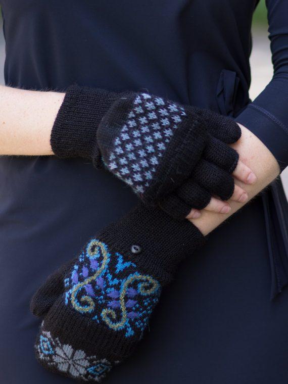 Alpaca wollen wanten halve vinger handschoen