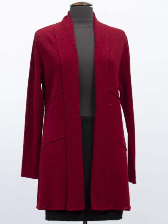Half-lang-alpaca-wollen-dames-vest-rood-shawl-kraag-gebreid-duurzame-kwaliteit-exclusief